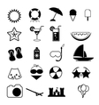 Summer icons with white background - silhouette vector