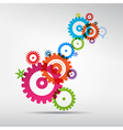 Abstract colorful cogs - gears on grey background vector