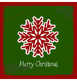 Christmas with snowflakes grunge background vector