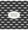 Seamless retro pattern with curly vintage hipster vector