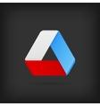Logo or emblem template icon infinite mobius strip vector