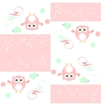 Seamless colourfull owl and birds pattern for kids vector