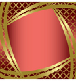Golden frame with center gradient vector