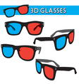Graphic of retro 3d glasses vector