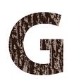 Bark letter g vector