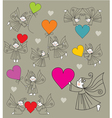 Elves with hearts vector