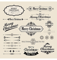 Christmas vintage design vector