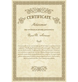 Vintage diploma vector