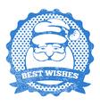 Santa stamp vector