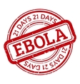 Red stamp with ebola concept text on white vector