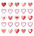 Heart icons design elements set vector