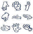 Cartoon gloved hands clip art vector