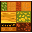 African abstract ornament with camels vector