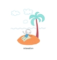 Man on vacation vector