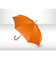 Orange umbrella vector