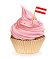 Austrian cupcake vector