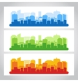 Landscape city banner color vector