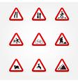Warning traffic signs vector