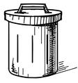Outdoor trash bin icon vector