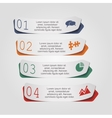 Modern arrow infographics element layout vector