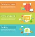 Set of social business life horizontal banners vector