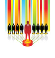 Team business concept leaders vector