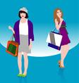 Woman shopping2 vector