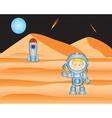 Spaceman on mars vector