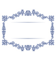 Antique vintage lace background frame vector
