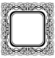 Black frame with ornamental border on white backgr vector