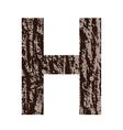 Bark letter h vector