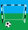 Football gate and ball vector