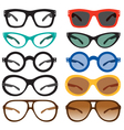 Geek nerd glasses sunglasses vector