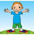 Happy little boy and happy vector