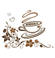 Coffee cafe flowers floral vector