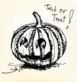 Halloween pumpkin sketch vector