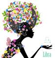 Zodiac sign libra fashion girl vector