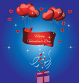 Card with the text happy valentines day vector