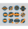 Set of vintage yellow icons vector