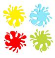 Colorful blot splash set inkblot vector