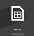 File document icon symbol flat modern web design vector