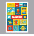 Camping - mosaic poster with icons in flat design vector