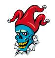 Cartoon clown skull vector