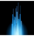 Blue straight lines abstract on black background vector