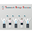 Positive thinking teamwork business concept vector