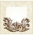 Frame ornate card announcement vector
