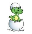 Cute dinosaur or dragon in an egg shell vector