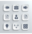 Office icons set - white app buttons vector