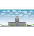 Washington dc capitol landscape vector
