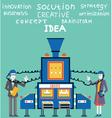 Brainstorm of businessman and businesswoman vector